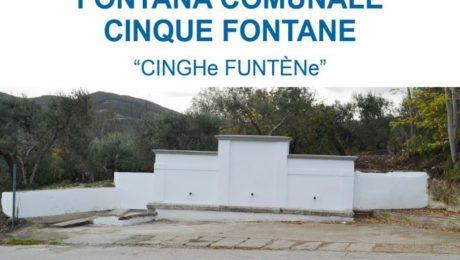 Ristrutturazione fontana comunale